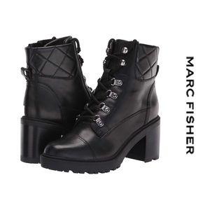 Marc Fisher Lakynn 2 Combat Boots Black Size 8.5